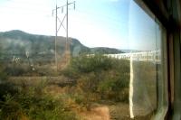 Blick aus dem Zugfenster, mit der Eisenbahn von Villazón nach Oruro (Bolivien)