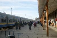 Bahnhof der bolivianischen Stadt Oruro im bolivianischen Andenmassiv, Bolivien