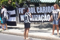 weibliche Fußballfans von Botafogo Rio de Janeiro