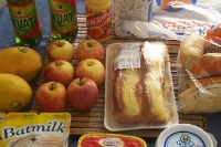 Leckeres Frühstück aus dem Supermarkt in Brasilien