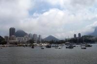 Blick auf die Bucht von Botafogo in Rio de Janeiro
