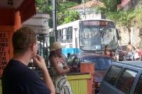 Linienbus in Guaratiba via Estrada da Ilha