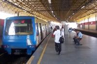 U-Bahn in der Metrostation Pavuna in der Zona Norte von Rio de Janeiro