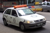 Ein Fahrzeug der Guarda Municipal in Rio de Janeiro, Brasilien
