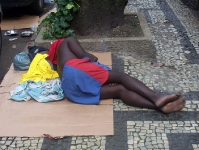 Obdachloser in Rio de Janeiro