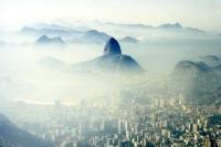 Blick auf Zuckerhut und Botafogo in Rio de Janeiro, 1996