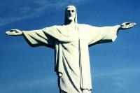 Jesusstatue auf dem Corcovado in Rio de Janeiro, 1996