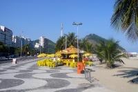 Strand von Copacabana im Stadtteil Leme