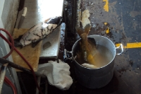 Leckere Fischsuppe auf einem brasilianischen Schiff