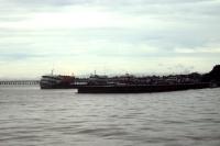Schiffe am Hafen von Macapá, Bundesstaat Amapá in Brasilien