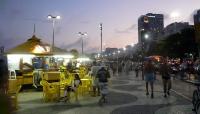 Abends an der Copacabana in Rio de Janeiro