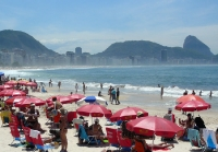 Strand von Copacabana in Rio de Janeiro