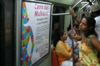 Carro das mulheres - ein Frauenwaggon der Metro in Rio de Janeiro