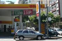 Tankstelle in Rio de Janeiro: Álcool comum und Gasolina comum