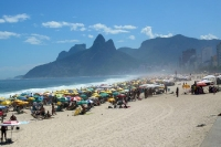 Blick auf Ipanema und Leblon in Rio de Janeiro