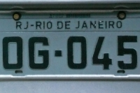 Ein Nummernschild eines PKW in Rio de Janeiro