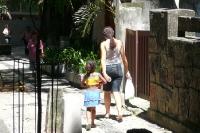 In einer Nebenstraße im Stadtteil Copacabana in Rio
