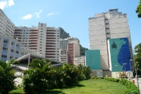 unterwegs im Stadtteil Copacabana in Rio de Janeiro