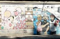 Wandmalereien in Rio de Janeiro, Brasilien