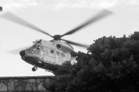 Brasilianischer Marine-Hubschrauber im Anflug ....