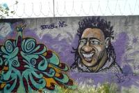 Malereien an einer Mauer in Rio de Janeiro