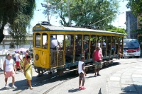 Die uralte Bonde von Lapa nach Santa Teresa in Rio de Janeiro