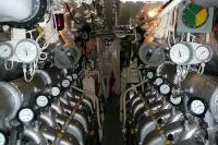 Blick in das Innere eines brasilianischen U-Boots im Hafen von Rio de Janeiro