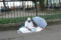 Candomblé-Priesterin im Stadtteil Copacabana in Rio de Janeiro