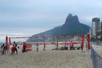 Beachvolleyballfeld am Strand von Ipanema