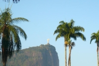 Blick auf den Corcovado in Rio de Janeiro