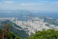 Rio de Janeiro - weltberühmter Blick auf die Bucht von Botafago und den Pão de Açucar / Zuckerhut