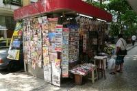 Zeitungskiosk im Stadtteil Copacabana