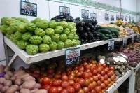 Gemüse in einem Super Mercado in Rio de Janeiro