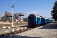 Der Bahnhof der bulgarischen Stadt Kjustendil