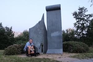 Start der Wanderung: Mahnmal Treptow