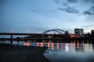 Frankfurt an der Oder im Abendlicht