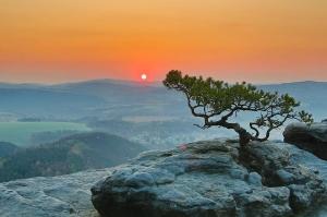 Blick auf die Sächsische Schweiz