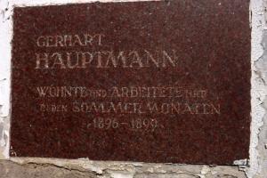 Gedenktafel Gerhart Hauptmann