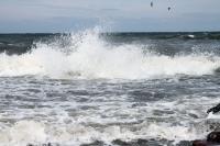 Ostseewellen am Strand von Hiddensee