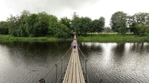Hängebrücke über den Jägala