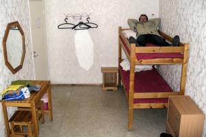 Hochbett in einem Hostel in Tallinn