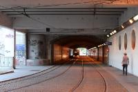 Straßenbahntunnel in Lyon