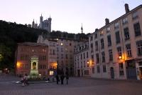Altstadt von Lyon am Abend