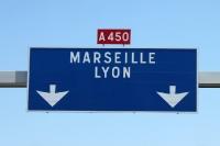 Autobahn nach Marseille und Lyon