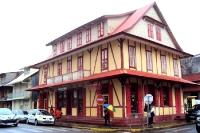 Fachwerkhaus in Cayenne in Französisch-Guyana / Guyane française