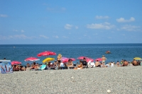 am Strand von Batumi in Georgien