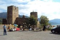 Die Festung Ananauri in Georgien