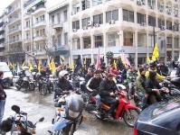 Motorrad-Demo in Athen