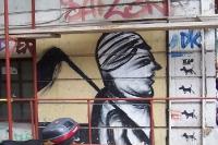 Wandmalerei an einer Hauswand in der griechischen Hauptstadt Athen