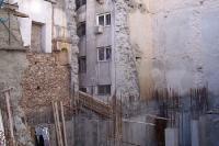 Die Euro-Krise greift um sich: Stillgelegte Baustelle im Stadtzentrum Athens
